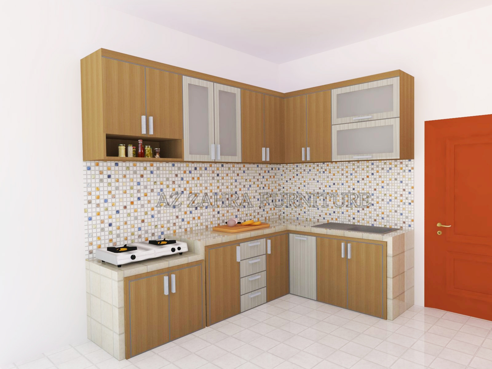 Kitchen set minimalis murah semarang azzahra furniture for Paket kitchen set murah