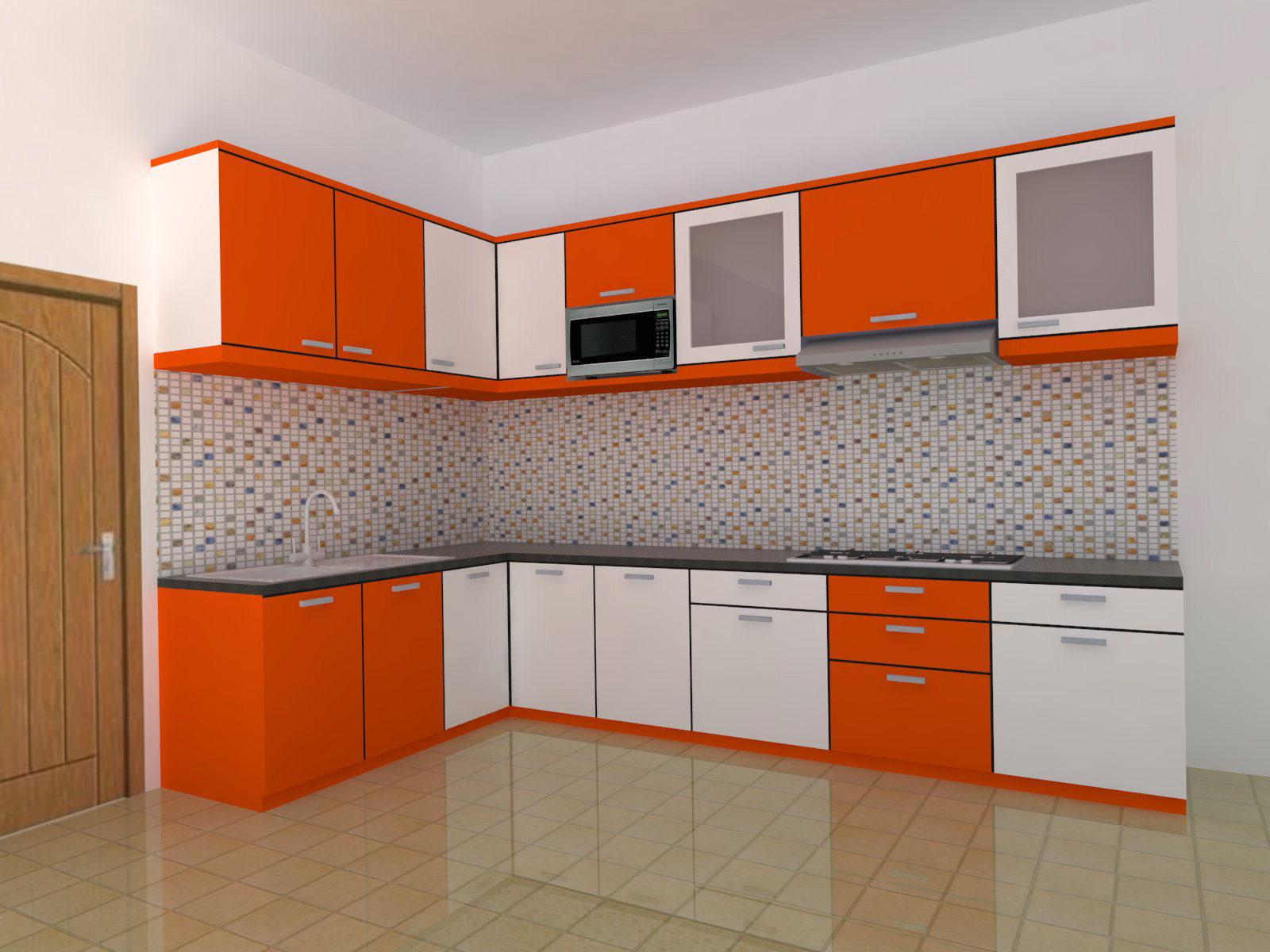 Kitchen set minimalis bergaransi azzahra furniture for Kitchen minimalis